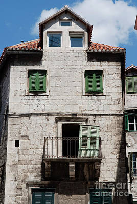 Medieval Photograph - Old Building In Split - One Of The Oldest In The Area, Split, Cr by Dani Prints and Images