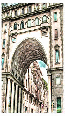 Arch Shapes Painting - Old Building by Lanjee Chee