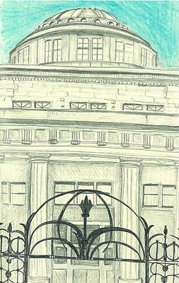 Marquette Drawing - Old Building One Marquette Michigan Series by Julia Garnett