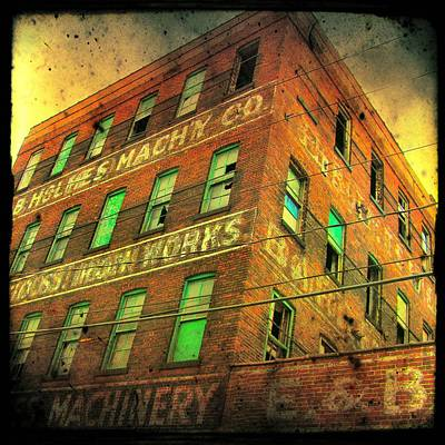 Old Empty Building In Retro Colors Art Print by Gothicrow Images