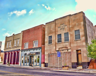 Photograph - Old Buildings In Downtown Christiansburg Virginia  by Kerri Farley