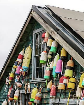 Photograph - Old Buoys by Karin Pinkham