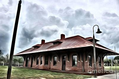 Mixed Media - Old Burkeville Station by Robin Coaker