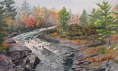 Old Burleigh Stream Art Print by Debbie Homewood