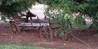 Photograph - Old Busted Wagon by Pamela Walton