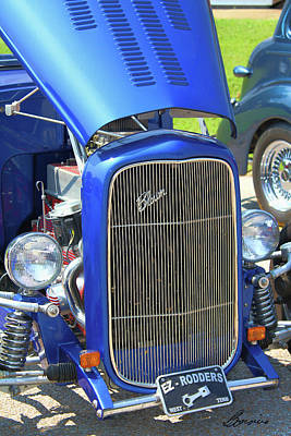Photograph - Old But Happy Hot Rod Convertable by Bonnie Willis