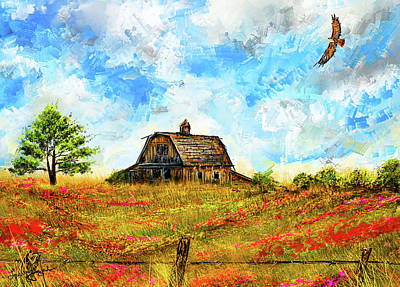 Painting - Old But Stately -old Barn Artwork by Lourry Legarde