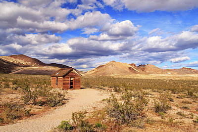 Photograph - Old Cabin At Rhyolite by James Eddy