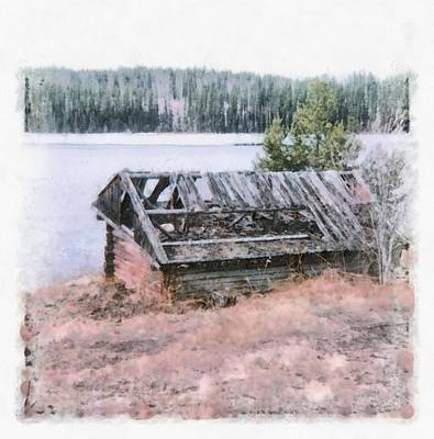 Photograph - Old Cabin By The Lake by John Winner