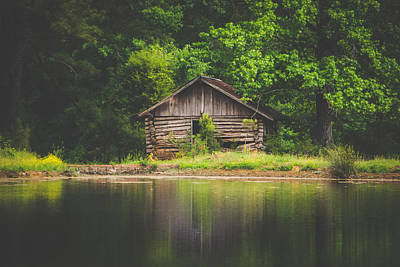 Photograph - Old Cabin By The Lake by Shelby Young
