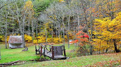 Autum Photograph - Old Cabin by Todd Hostetter