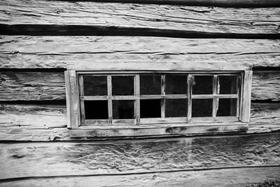 Photograph - Old Cabin Window by Dart and Suze Humeston
