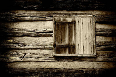 Photograph - Old Cabin Window by Paul W Faust - Impressions of Light