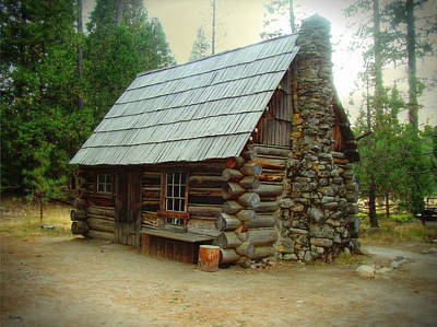 Photograph - Old Cabin - Yosemite Merced California by Glenn McCarthy Art and Photography