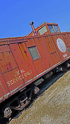 Photograph - Old Caboose by Anthony Scarpace