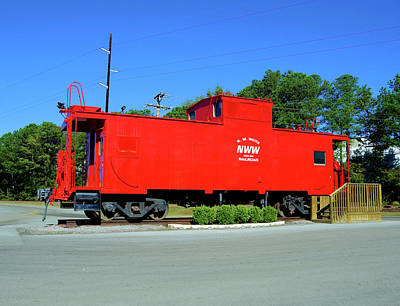 Photograph - Old Caboose by Joseph C Hinson Photography