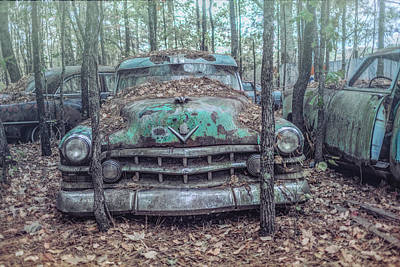 Old Caddy Art Print