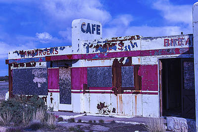 Boarded Up Photograph - Old Cafe Rout 66 by Garry Gay