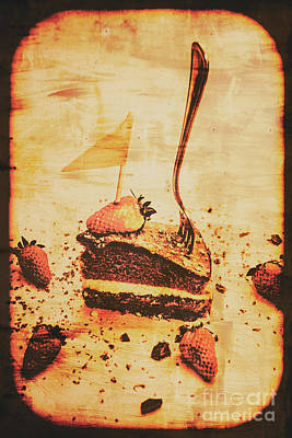 Yummy Photograph - Old Cake Break by Jorgo Photography - Wall Art Gallery