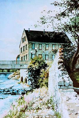 Old Cambridge Mill Print by Hanne Lore Koehler