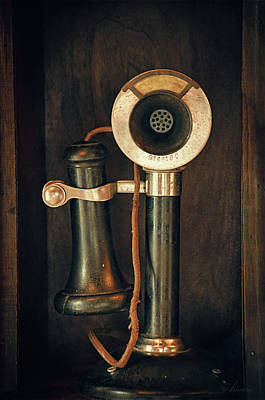Old Candlestick Phone- Casa Loma, Toronto Art Print by Maria Angelica Maira