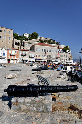 Photograph - Old Cannons In Hydra Island I by George Atsametakis