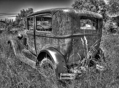 Photograph - Old Car 6 Bandw by Lawrence Christopher