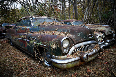 Photograph - Old Car City 10 by David Beebe