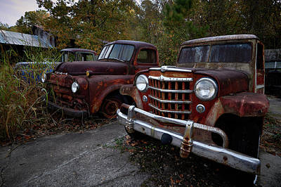 Photograph - Old Car City 4 by David Beebe