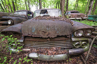 Photograph - Old Car City In Color by Lindy Grasser