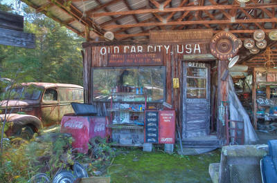Photograph - Old Car City by Shirley Radabaugh
