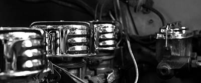 Photograph - Old Car Engine by Michael Thibault