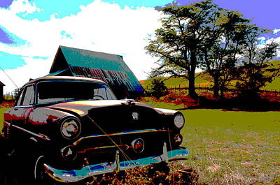 Photograph - Old Car by Jean Evans