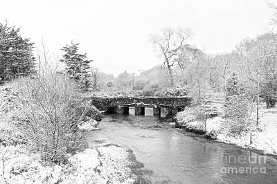 Photograph - Old Carnon Bridge In The Snow by Terri Waters