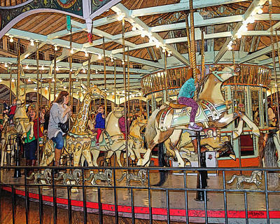 Photograph - Old Carousel City Park New Orleans by Rebecca Korpita