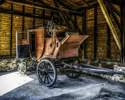 Photograph - Old Carriage At Batsto by Nick Zelinsky