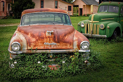 Photograph - Old Cars And Pink Houses by James Barber