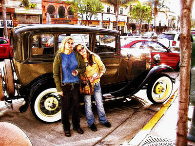 Photograph - Old Cars And Pretty Tourists by Glenn McCarthy