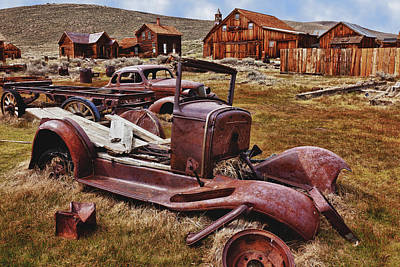 Junk Photograph - Old Cars Bodie by Garry Gay