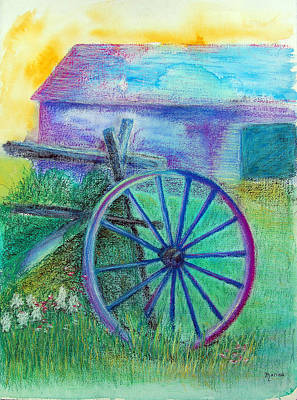 Painting - Old Cartwheel At Father Pandosy Mission by Marina Garrison