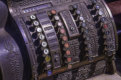Cash Register Photograph - Old Cash Register by Garry Gay