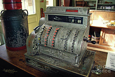 Photograph - Old Cash Register by Inspirational Photo Creations Audrey Taylor