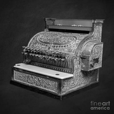 Cash Register Photograph - Old Cash Register Square by Edward Fielding