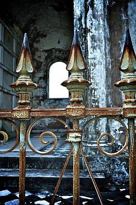 Graveyard Digital Art - Old Cast Iron Gates by Alicia Morales