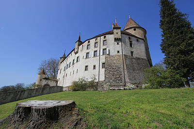 Photograph - Old Castle Of Oron, Fribourg Canton, Switzerland by Elenarts - Elena Duvernay photo