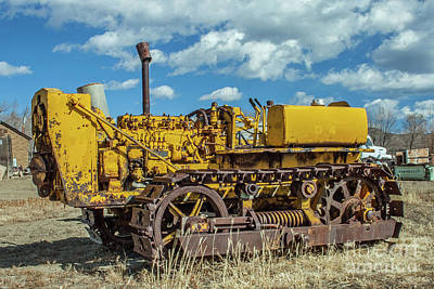 Photograph - Old Caterpillar Dozer by Tony Baca