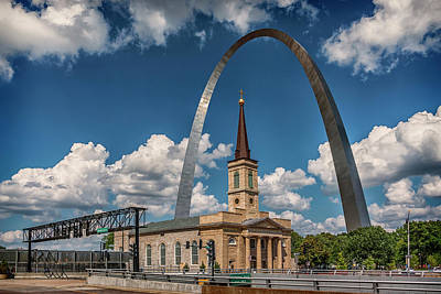 Photograph - Old Cathedral And Arch St Louis Mo 7r2_dsc9317_06132017 by Greg Kluempers