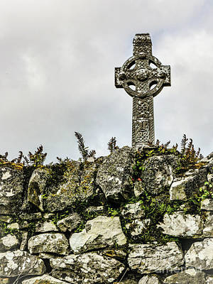 Photograph - Old Celtic Cross by Lexa Harpell