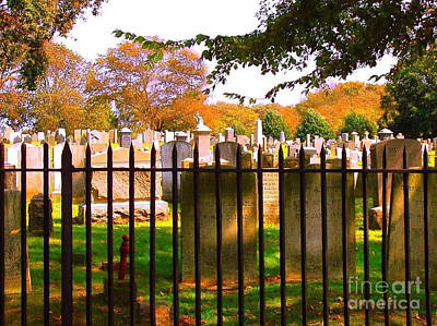 Photograph - Old Cemetary In Newport Rhode Island by Becky Lupe