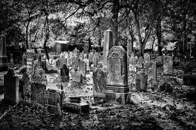 Black Russian Studio Photograph - Old Cemetery In Philadelphia 1 by Val Black Russian Tourchin